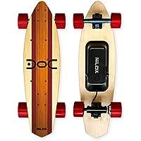 Nilox Unisex Youth DOC Cruiser Electric Skateboard, Rot/Holz, Universal