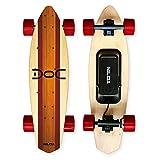 Nilox 30NXSKMO00004, Skateboard Elettrico Unisex - Adulto, Legno/Rosso, 80 cm