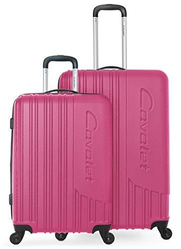 Cavalet Malibu - Reisekoffer Gepäck Set robuste Hartschale mit Erweiterung - Trolley 65 cm + großer Koffer 73 cm, ABS, TSA Schloss, B07NVWS75Z