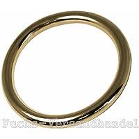 16mm - 1 St/ück Messing D-Ringe 16,20,25,31,40mm 1,10,50,100 St/ück
