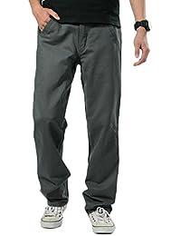 H HIAMIGOS Hombre Pantalones Chinos Básicos