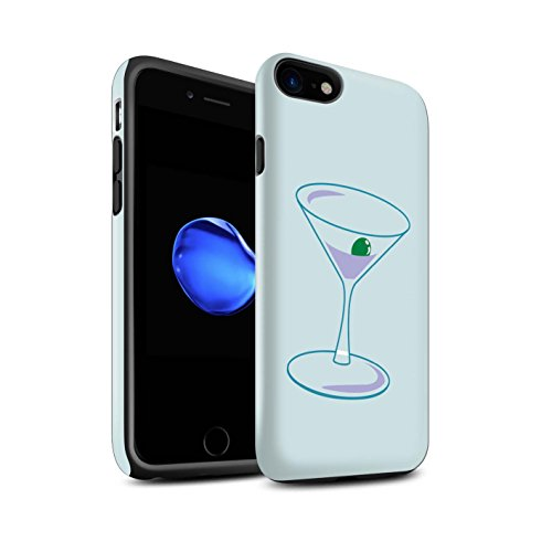 STUFF4 Matte Harten Stoßfest Hülle / Case für Apple iPhone 5/5S / Quatrefoil/Klee Muster / Teal Mode Kollektion Martini-Glas/Alkohol