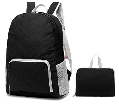 30L ligero Packable mochila, mrplum Unisex Durable resistente al agua práctico mochila para viajes y deportes al aire libre (Lavable- Negro)