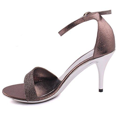 Unze Donne 'Liam' tacchi a spillo abbelliti da promenade del partito di sera dei sandali da sposa Scarpe FORMATO BRITANNICO 3-8 Grigio
