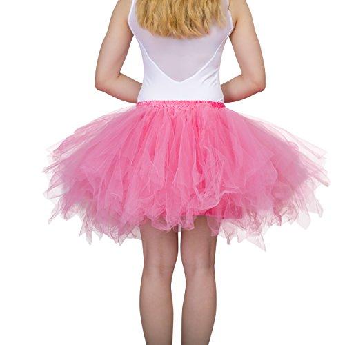 (Dancina Damen Petticoat 50er Jahre Vintage Tutu Tüllrock [Sticker XXL] Wassermelone Gr. 42-46)