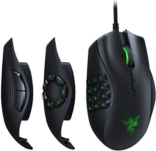 Razer Naga Trinity MOBA/MMO-Gaming-Maus (Drei austauschbare Seitenteile, Optischer 5G-Sensor mit echten 16.000 DPI, Mechanische Maustasten, bis zu 19 programmierbare Taste & Razer Chroma Beleuchtung)
