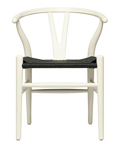 Hans Wegner Wishbone Style - Silla Asiento Tejida