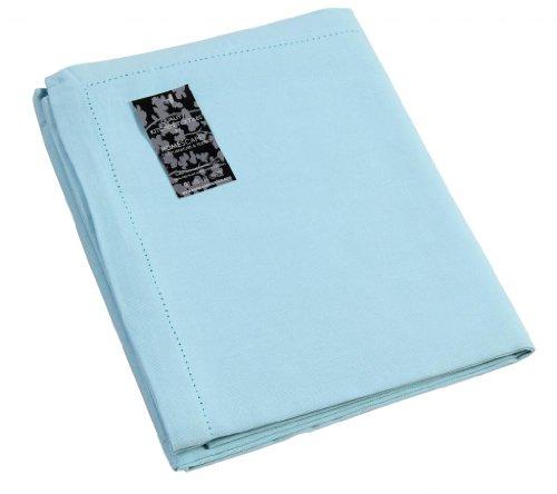 Homescapes–tovaglia, 100% puro cotone, facile da pulire, lavabile fino a 40gradi c, azzurro tinta unita, cotone, blau, 230 x 140 cm