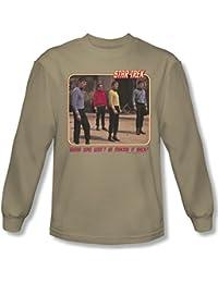 Star Trek - Mens Red Shirt Blues Long Sleeve Shirt In Sand