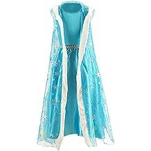Ninimour Disfraz Vesitdo de Princesa Hielo para Las Niñas