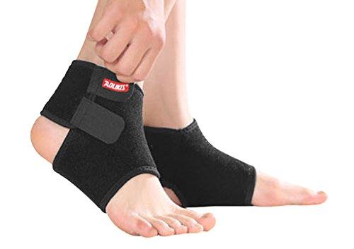 2-teilig Kinder Knöchelschutz Knöchelbandage Fußbandage, Schwarz - S