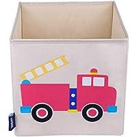 Preisvergleich für Wildkin W640691 Aufbewahrungswürfel für Kinder, Feuerwehr, Beige