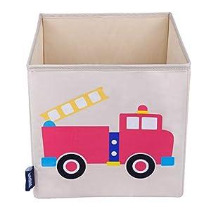 Wildkin W640691 - Cubo de Almacenamiento para niños, Color Beige