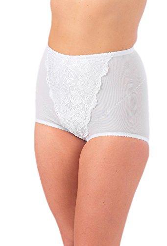 Marlon Damen Taillenslip Weiß Weiß (Camisole Light Control)