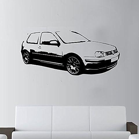 XL Classique Grand voiture VW Golf GTI MK4sans Raclette. Art Mural en vinyle, Vert, Racing Green Xtra Large - 127cm W x 59cm H As Pi