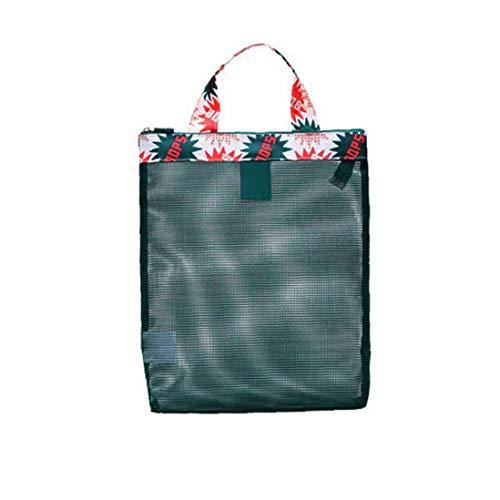 OMMO LEBEINDR Mesh-Strand-Tasche wasserdichte Große Kapazitäts-Reise Meer Taschen Schwimmgeräte Lagerung Kit 1pc Greenmesh Beachbag Wasserdicht -
