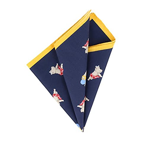 OTTO KERN Pocket Square Pochette Navy Blue Handkerchief