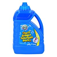 BUBBLE KIDZ 1.8 Litre Bubble Mixture Liquid Solution Refill Bottle with Pouring Funnel