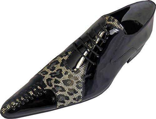 Chelsy , Chaussures de ville à lacets pour homme Noir - Noir
