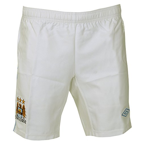 Manchester City Home Football Shorts - White/Blue