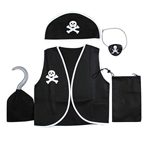 Toyvian Kinder Pirat Kostüme Buccaneer Kostüm Piraten Cosplay Anzug für Kleinkind Jungen