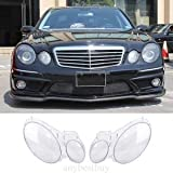 #4: Tradico® TradicoBrand New For Benz W211 2002-2008 LH+RH Front Headlights Lamp Cover Lens Kit Transparent