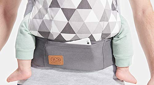 kk Kinderkraft Nino Ergonomic Baby Carrier Front Gray kk KinderKraft Thanks to a special, well-profiled layer, the baby's head does not tilt Ergonomic baby carrier for children aged from 3 months up to 20 kg The compact baby carrier can be folded to a small size and weighs only 0.39 kg 10