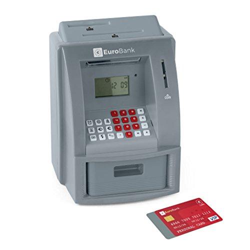 Balvi-EuroBankhuchacajeroautomáticoelectrónico.Contadorautomáticodemonedas.Funcionacon3pilasAAA.