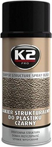 Preisvergleich Produktbild K2 Stoßstangenlack, Kunststofflack, Lackspray, Stoßfänger, Kunststoff lackieren, schwarz 400ml