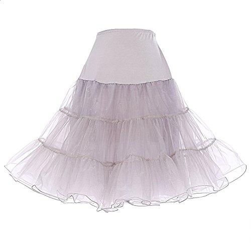 Dresstells 1950 Petticoat Reifrock Unterrock Petticoat Underskirt Crinoline für Rockabilly Kleid...
