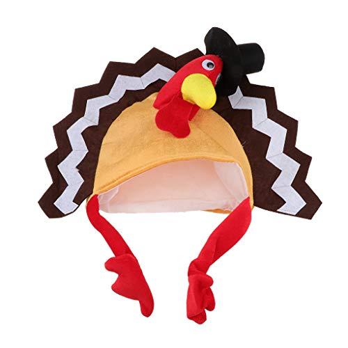 Fenteer Karneval Fasching Thanksgiving Kostüm Türkei Hüte Mütze für Erwachsene Kinder (Kinder Kostüm Türkei)