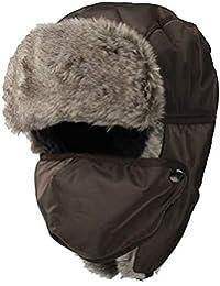 468b6283a88 WITHMOONS Nieve Sombrero Gorros de Aviador Invierno Cálido Trooper Trapper  Hat Winter Windproof Cap Faux Fur