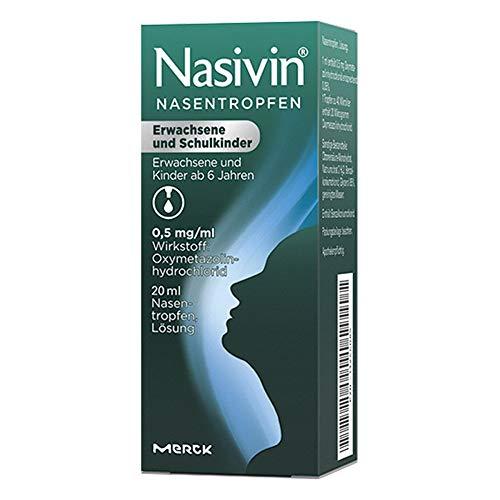 Nasivin Nasentropfen Erwachsene und Schulkinder, 20 ml Lösung