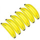 TUPARKA 6 PCS gonflables Bananes Jaunes Piscine Jouets pour Luau Hawaï Party...