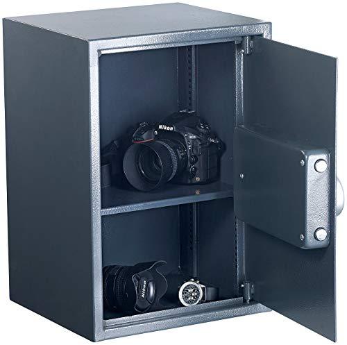 Xcase Safe: Großer-Stahlsafe mit digitalem Code-Schloss und LCD-Display, 50 Liter (Tresore)