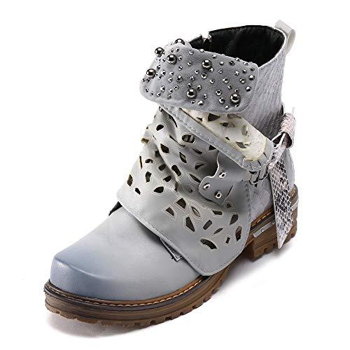 Stiefeletten Damen Schuhe ABsoar Boots Stiefel Frauen Vintage Herbst Winter Stiefel aushöhlen Stiefeletten Lässige High Heels Stiefel Schuhe Frauen Casual Freizeitschuhe Frauenschuhe