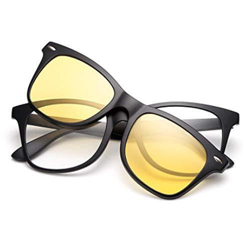 hlq Vielfalt der Sonnenbrillen, Retro Eyegbrillen Frame, Bunt polarisierte Sonnenbrillen, TR90 Leichtgewichts-Sonnenbrillen,Nightvisionlens