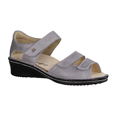 Finn Comfort Fes - Damenschuhe Sandale bequem / lose Einlage, Grau, leder (monroe) Grau