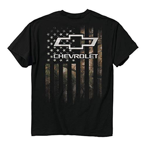 Über Die Jagd T-shirt (Buck Wear Herren T-Shirt GMC Chevy Camo Accent Flag, Herren, 3496-MD, Blue Dusk, Medium)
