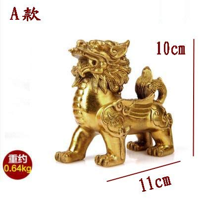 Bronze Einhorn Skulptur Dragon Statue Geld Lucky Fortune Reichtum Chinesische Feng Shui Decor Home Office Ornaments