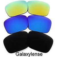 Lentes de repuesto para Oakley Holbrook Negro y Azul y Dorado Color Polarizados. 3 Pares