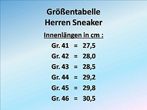 GIBRA® Chaussures de sport pour homme très légères et confortables Bleu foncé/vert fluo Taille 41-46 dunkelblau/neongrün