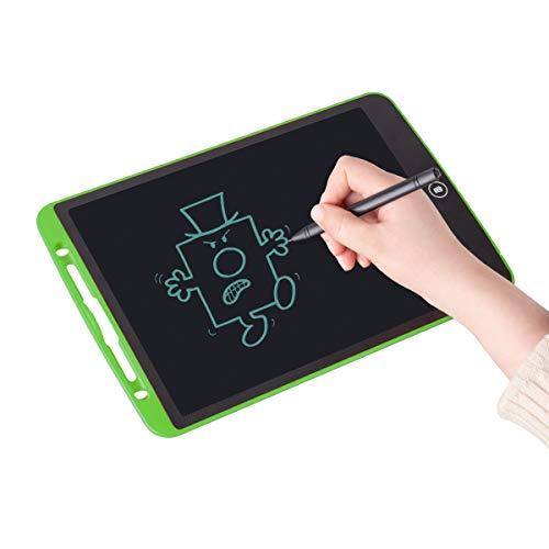 ablet, 12 Zoll LCD-Schreibtafeln, Grafiktabletts Schreibplatte Digital Schreibtafel Papierlos Schreiben Tabletten für Kinder Schule Graffiti Malen Notizen, mit Schutztasche (Grün) ()