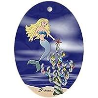 CafePress–Sirenetta Stella di Natale–Ovale vacanza decorazione natalizia