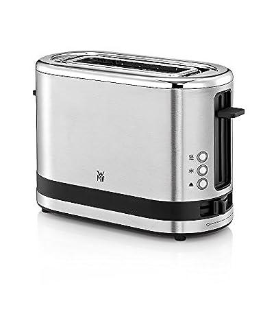 WMF KÜCHENminis 1-Scheiben-Toaster, 7 Bräunungsstufen, integr. Brötchenaufsatz, 600 W, cromargan matt/silber