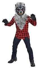Idea Regalo - Amscan Costume da lupo mannaro, con maschera e guanti, 14-16anni