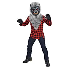 New Amscan Teens Halloween Hungry Howler Werewolf Fancy Dress Costume Mask & Gloves - 14-16 Years