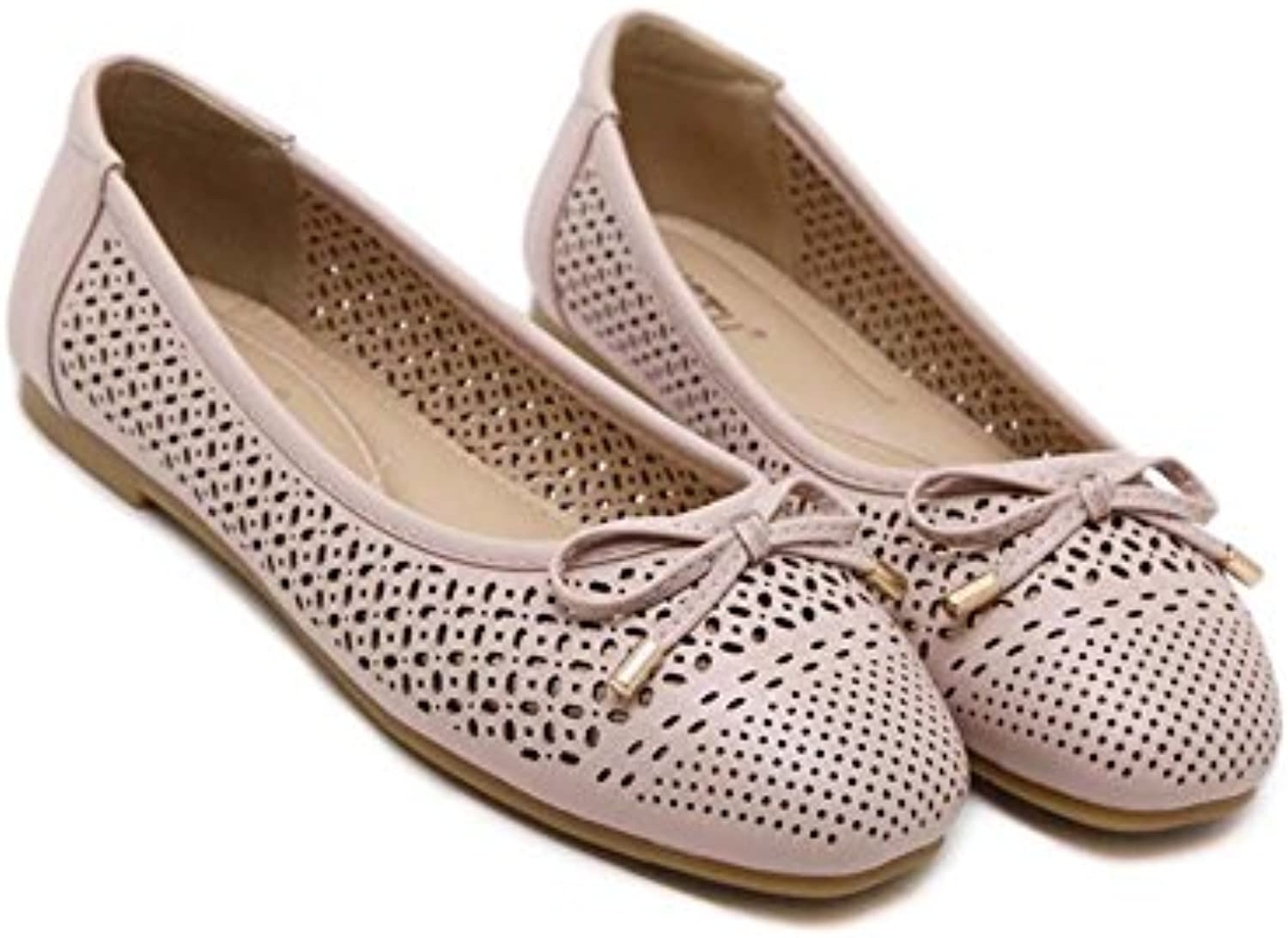 Bomba Ballerina Flats Loafer Jelly Mujeres Simple Punto Ronda Pure Color Hollow Bowknot Soft Bottom Zapatos Casual...