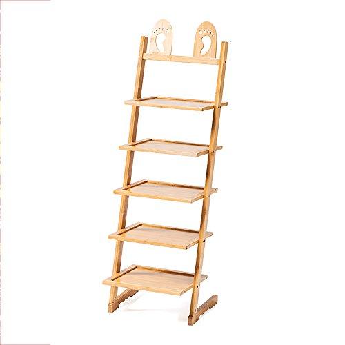 Schuhregal NAN Bambus 5 Schichten 6 Paar Schuhe Gute Funktion Lagerregal Flur Wohnzimmer Schlafzimmer (größe : 33.5*31*93cm) (5 Metallic-regal Bücherregal)