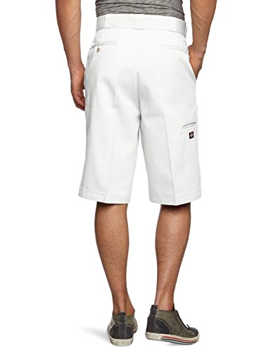 Dickies Herren Sport Shorts Streetwear Male Shorts 13 Zoll Multi-Pocket Work Weiß (White)